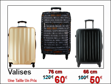 Maroquinerie bagagerie pas cher discount - Valise a prix discount ...