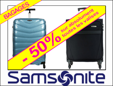 -50% VALISES SAMSONITE